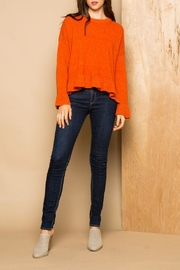 THML Clothing Ruffle Sweater - Front cropped