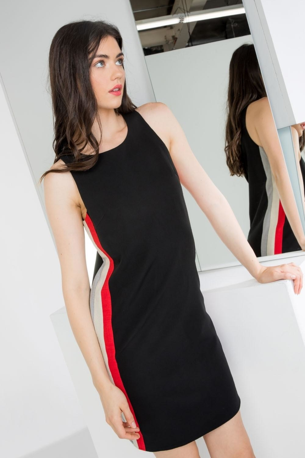 THML Clothing Side Stripe Dress - Front Cropped Image