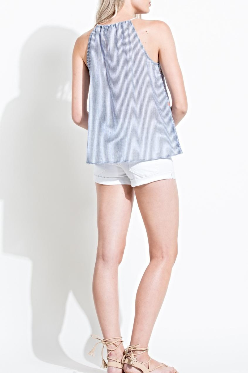 THML Clothing Sleeveless Embroidered Top - Front Full Image