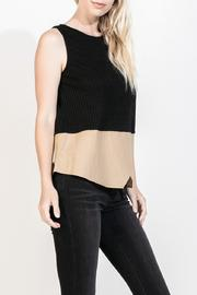 THML Clothing Sleeveless Rib Sweater - Front cropped