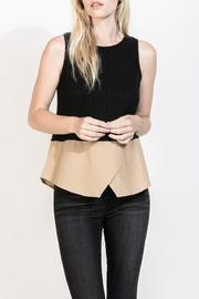 THML Clothing Sleeveless Rib Sweater - Product Mini Image