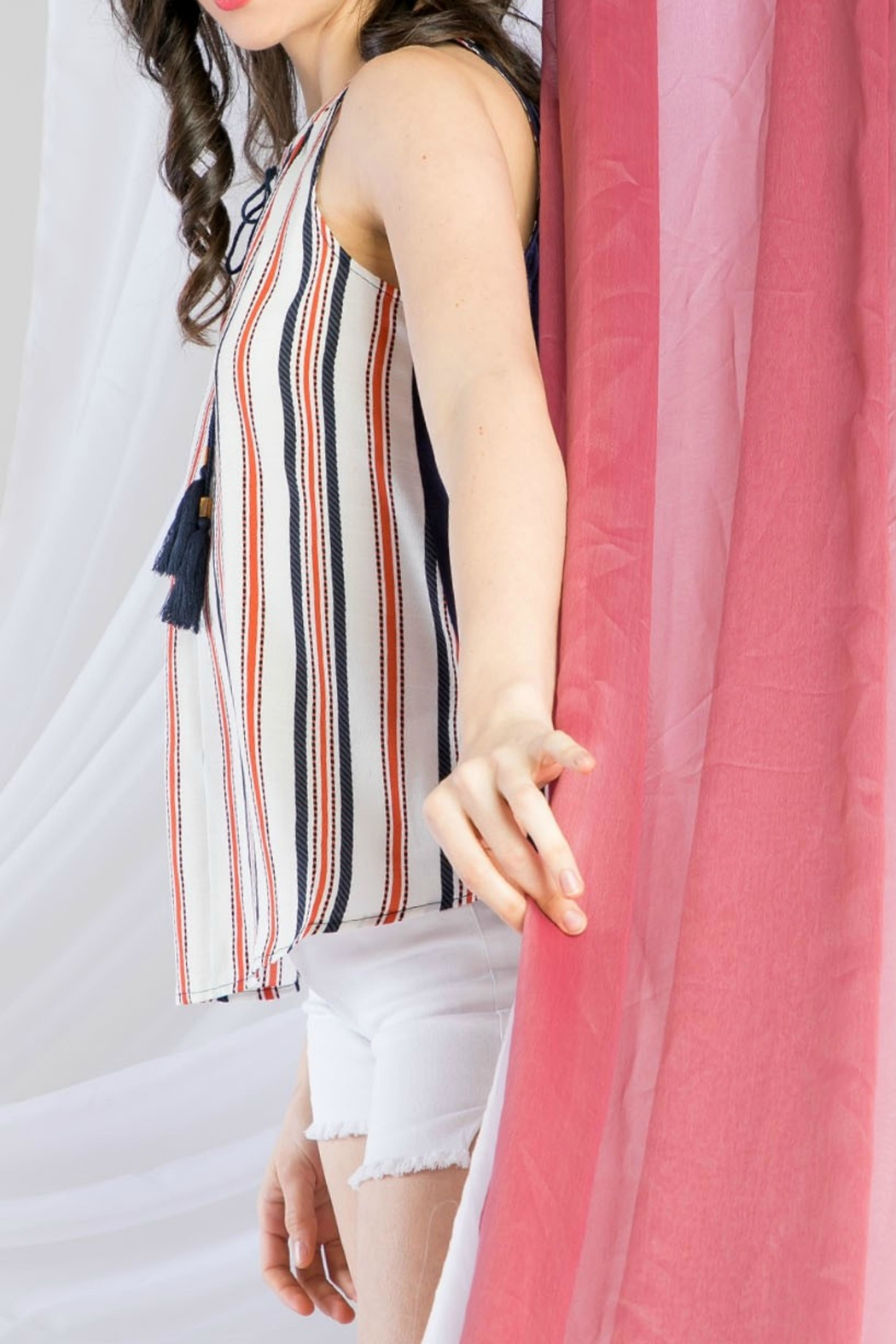 THML Clothing Sleeveless Stripe Top - Front Full Image
