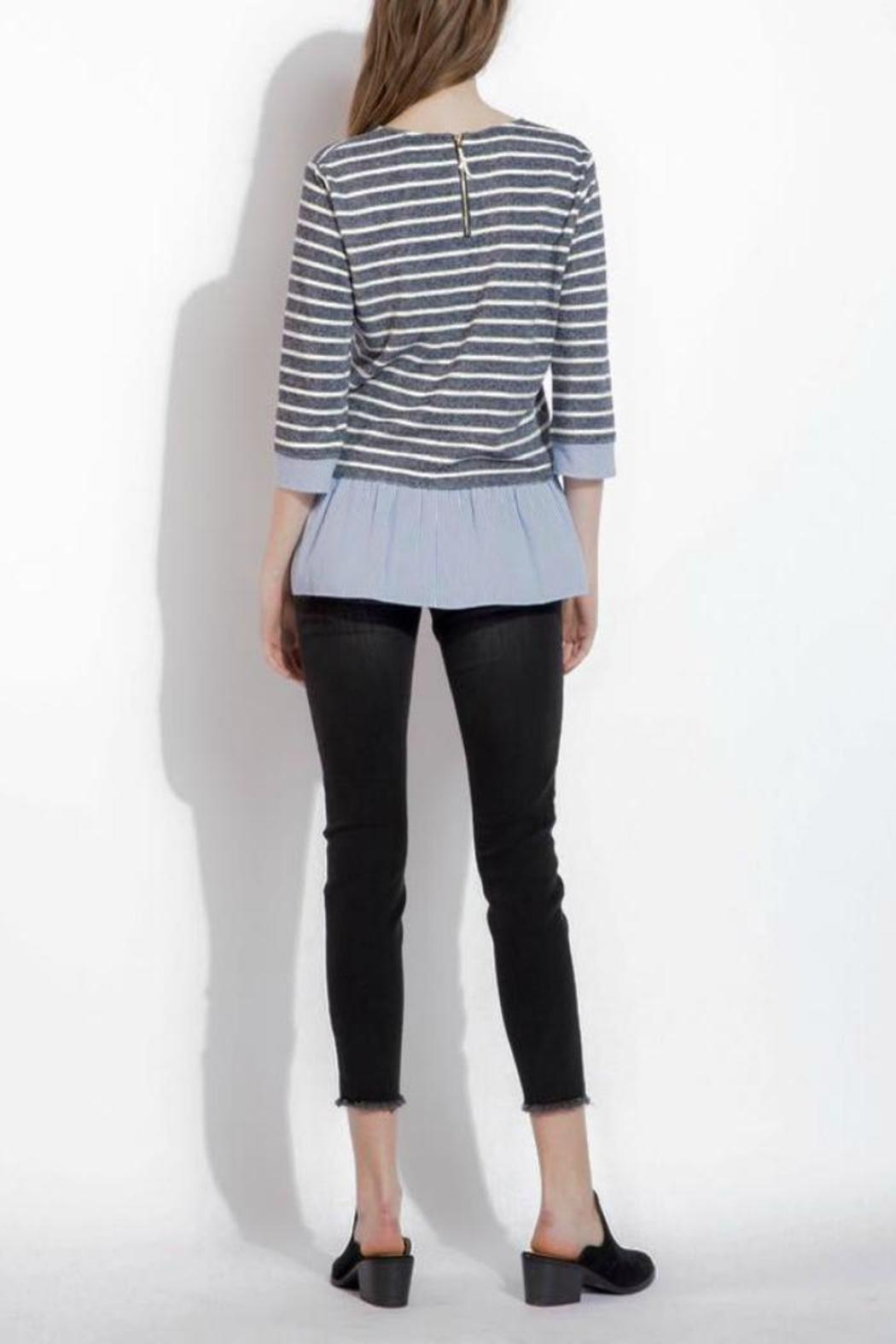 THML Clothing Spring Stripes Top - Side Cropped Image