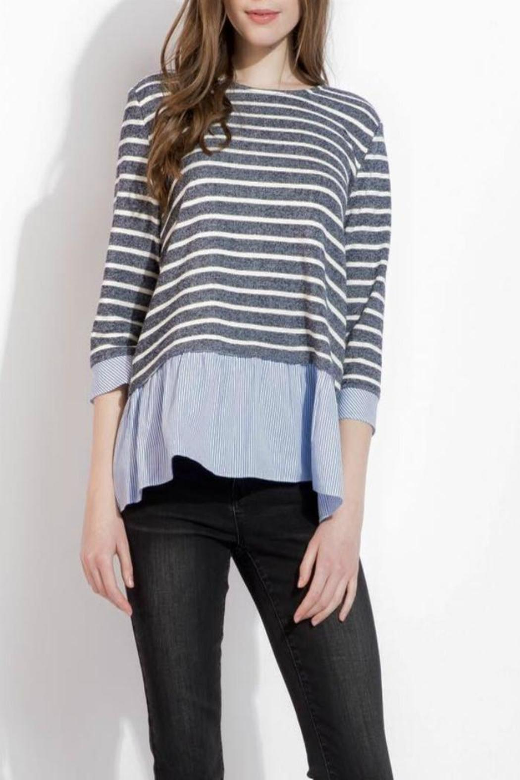 THML Clothing Spring Stripes Top - Main Image