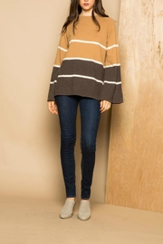 THML Clothing Striped Crew Sweater - Product Mini Image