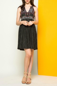 Shoptiques Product: Striped Halter Dress