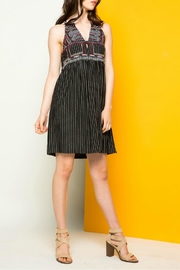 THML Clothing Striped Halter Dress - Side cropped