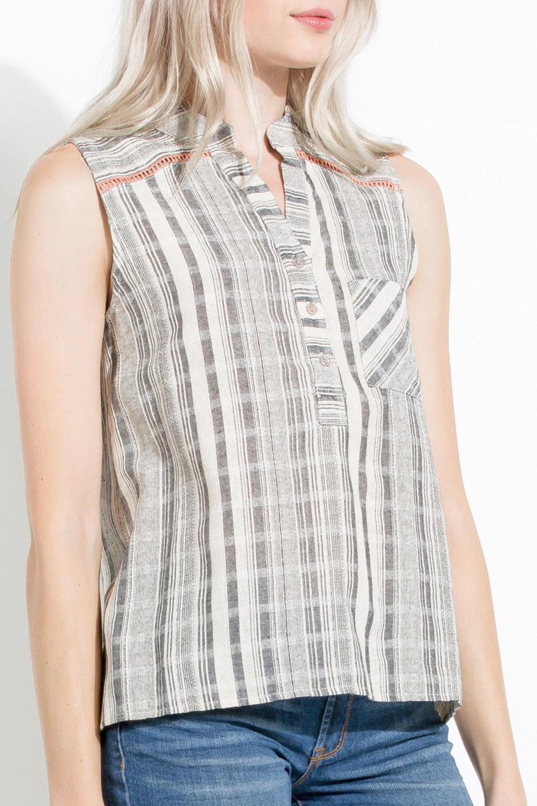 Striped High Low Tunic