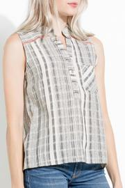Shoptiques Product: Striped High Low Tunic - Side cropped