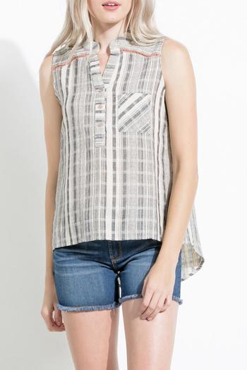 Shoptiques Product: Striped High Low Tunic - main