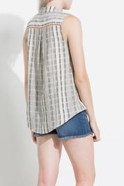 Shoptiques Product: Striped High Low Tunic - Back cropped
