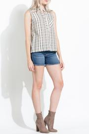 Shoptiques Product: Striped High Low Tunic - Front full body
