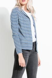 THML Clothing Striped Knit Blazer - Front full body
