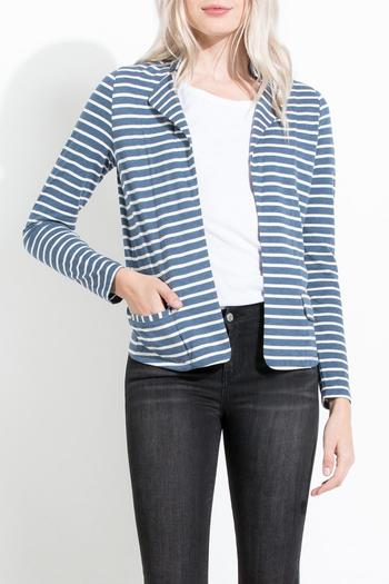 THML Clothing Striped Knit Blazer - Main Image