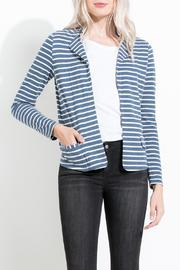 THML Clothing Striped Knit Blazer - Product Mini Image