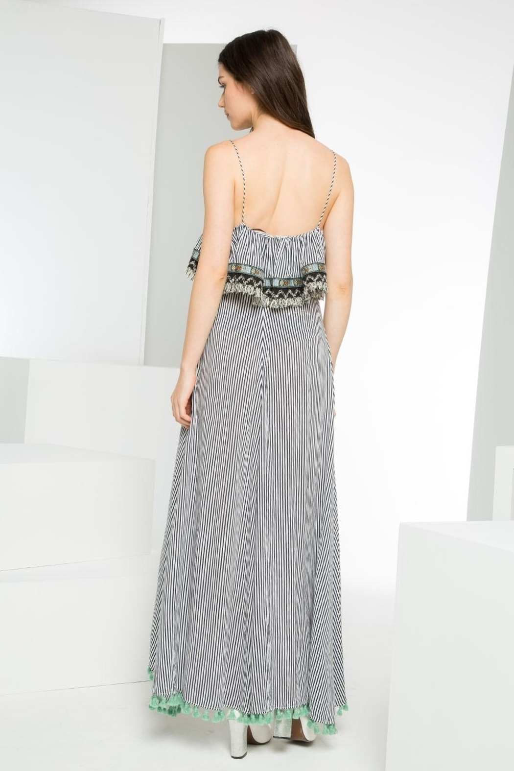 THML Clothing Striped Maxi Dress - Front Full Image
