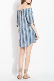 THML Clothing Striped Off Shoulder Dress - Back cropped