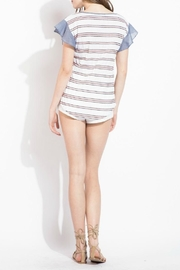 THML Clothing Striped Ruffle Top - Front full body