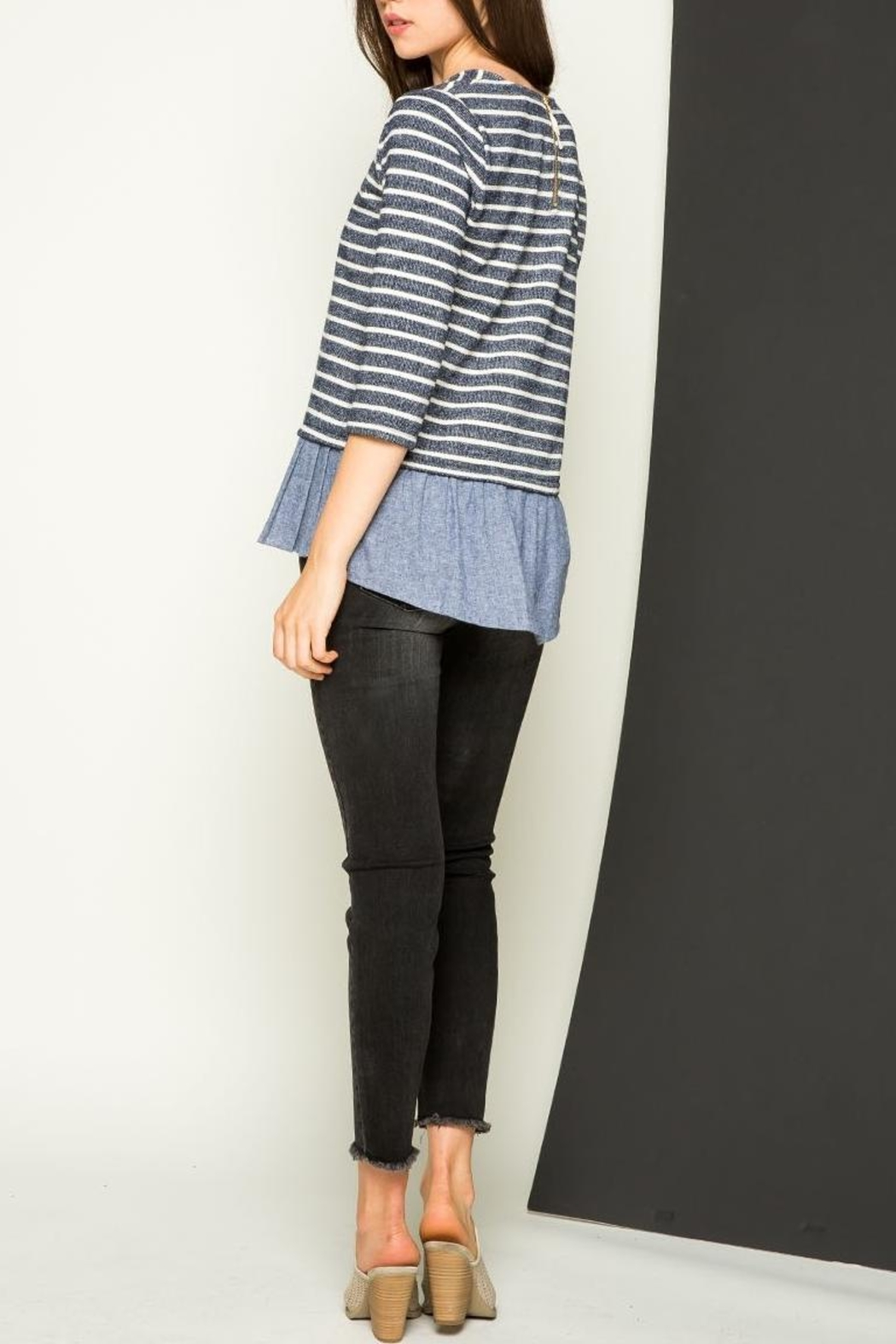 THML Clothing Striped Sweater - Front Full Image