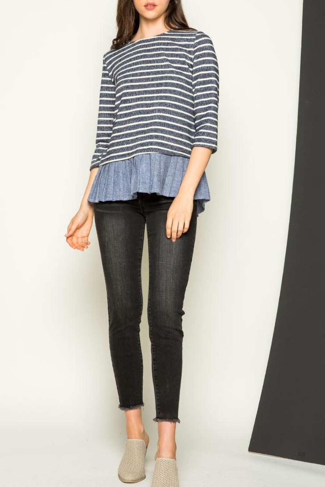 THML Clothing Striped Sweater - Main Image