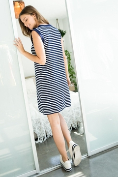 THML Clothing Striped Tank Dress - Alternate List Image