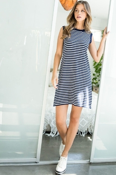 THML Clothing Striped Tank Dress - Product List Image