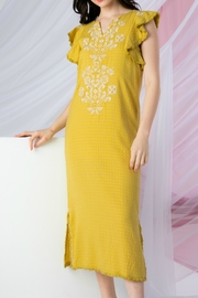 THML Clothing Sunny Embroidered Dress - Product Mini Image