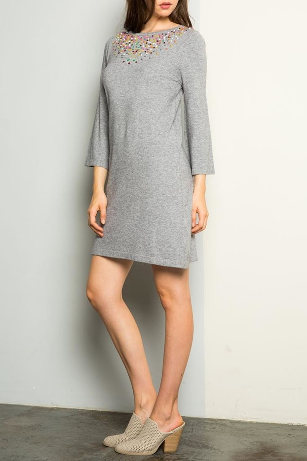 THML Clothing Sweater Dress - Side Cropped Image