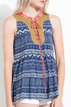 Shoptiques Product: Tiered Printed Tank