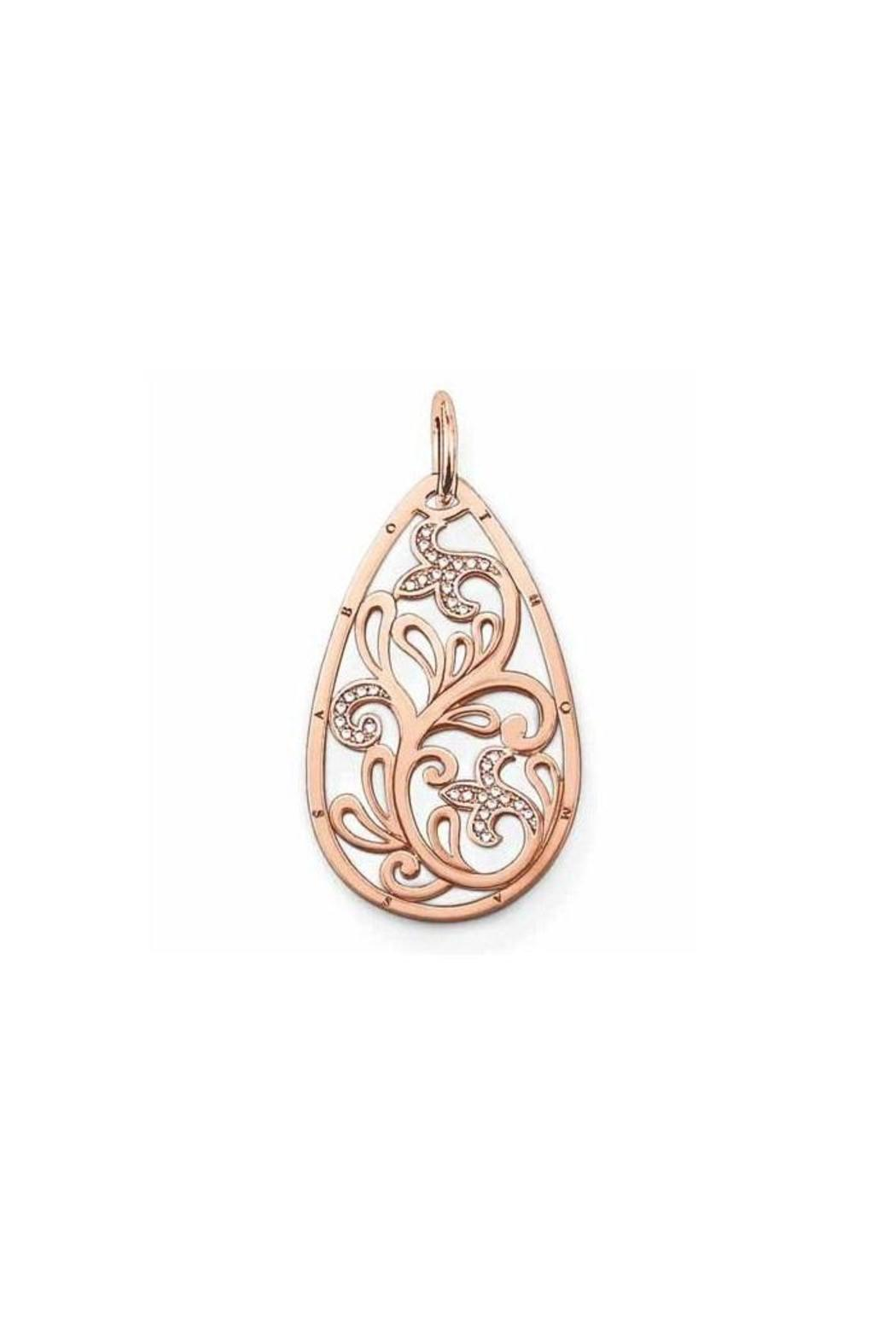 thomas sabo rosegold teardrop pendant from canada by a. Black Bedroom Furniture Sets. Home Design Ideas