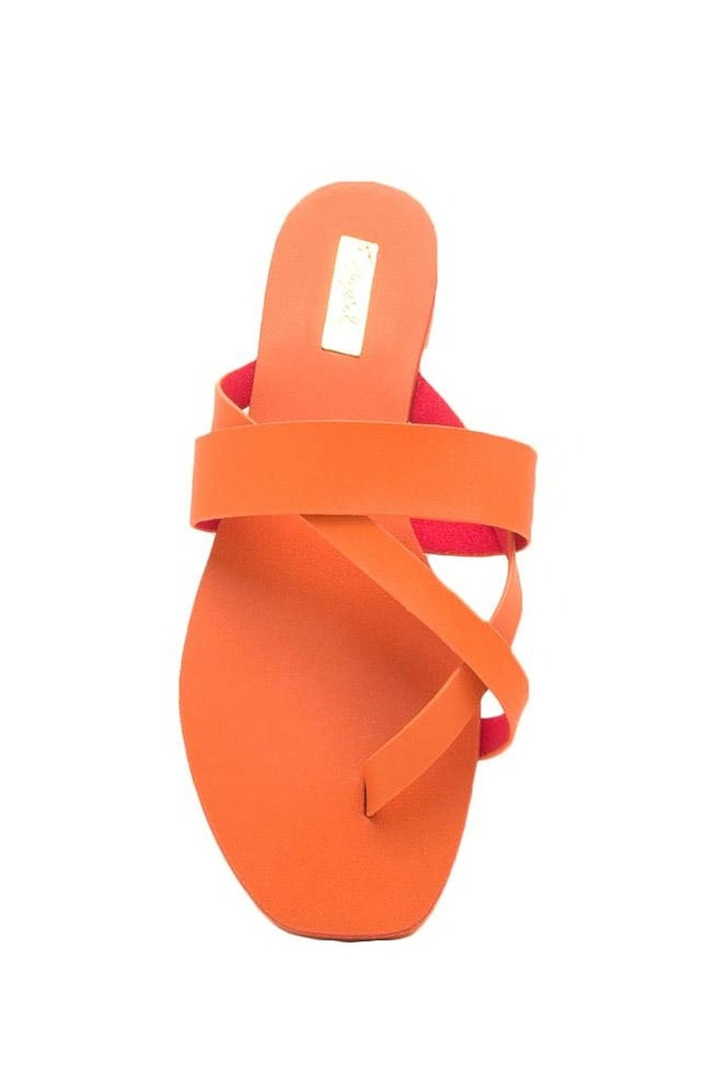 Qupid Thong Sandals - Back Cropped Image