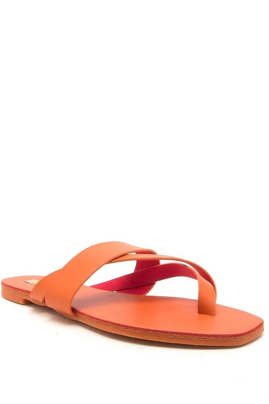 Qupid Thong Sandals - Front Cropped Image