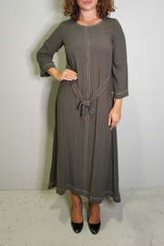 thought Walnut Grey Dress - Front cropped