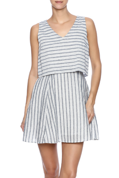 Shoptiques Product: Navy Ivory Striped Dress