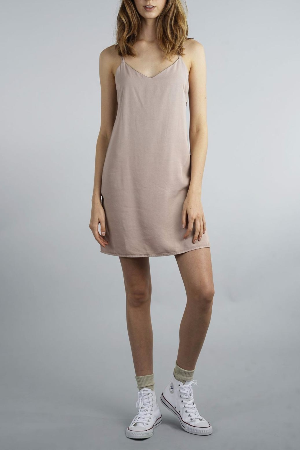 Thread & Supply Smoke Rose Dress - Front Cropped Image