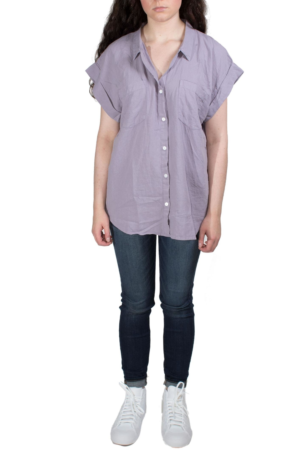 Thread & Supply Zuma Purple Shirt - Front Cropped Image