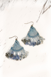 Rush by Denis & Charles Threaded Fan Drop Earring - Product Mini Image