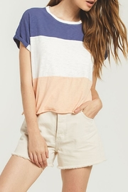 z supply Three-Color Tee - Front cropped