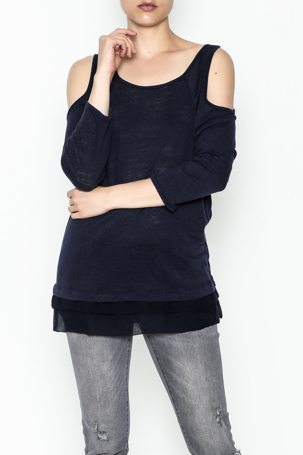 Three Dots Cold Shoulde Jersey - Main Image
