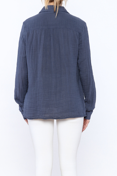 Three Dots Periwinkle Button Down Top - Alternate List Image