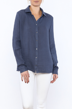 Shoptiques Product: Periwinkle Button Down Top