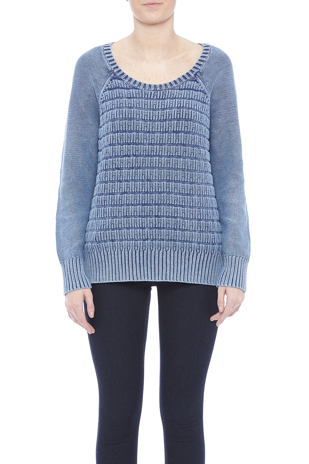 Three Dots Lindsey Cotton Sweater - Side Cropped Image