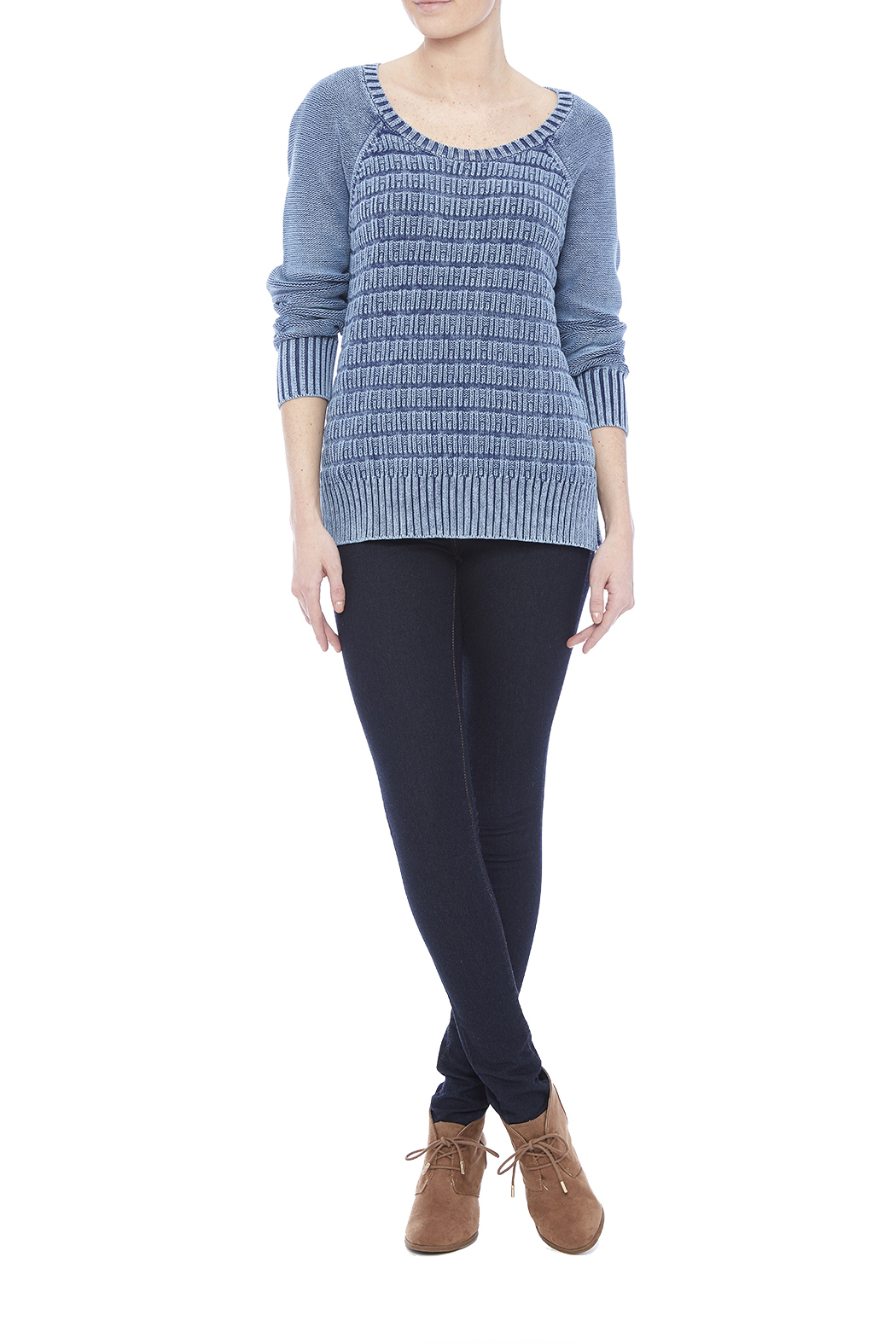 Three Dots Lindsey Cotton Sweater - Front Full Image