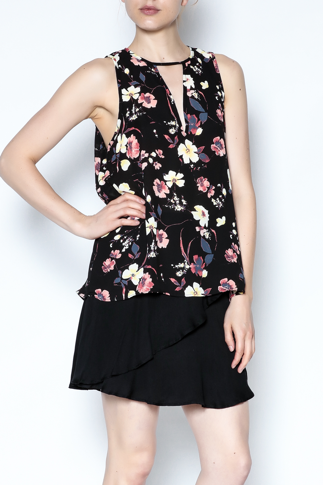 Three Eighty Two Floral Sleeveless Top - Main Image