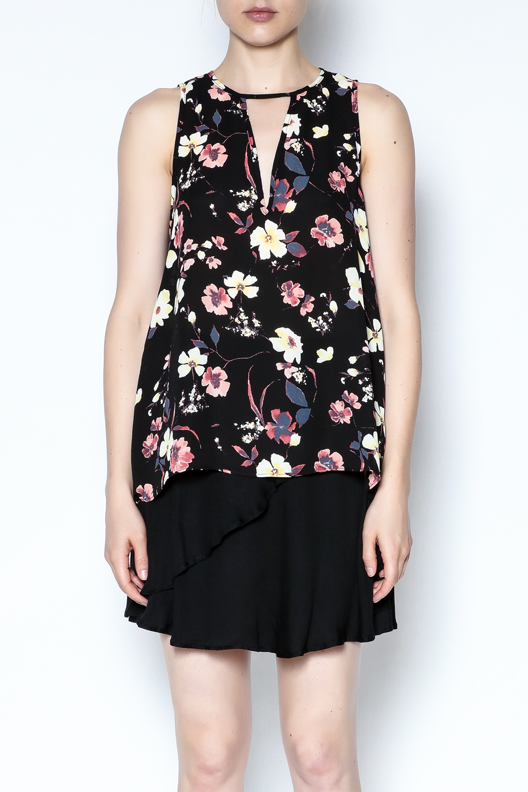 Three Eighty Two Floral Sleeveless Top - Front Full Image