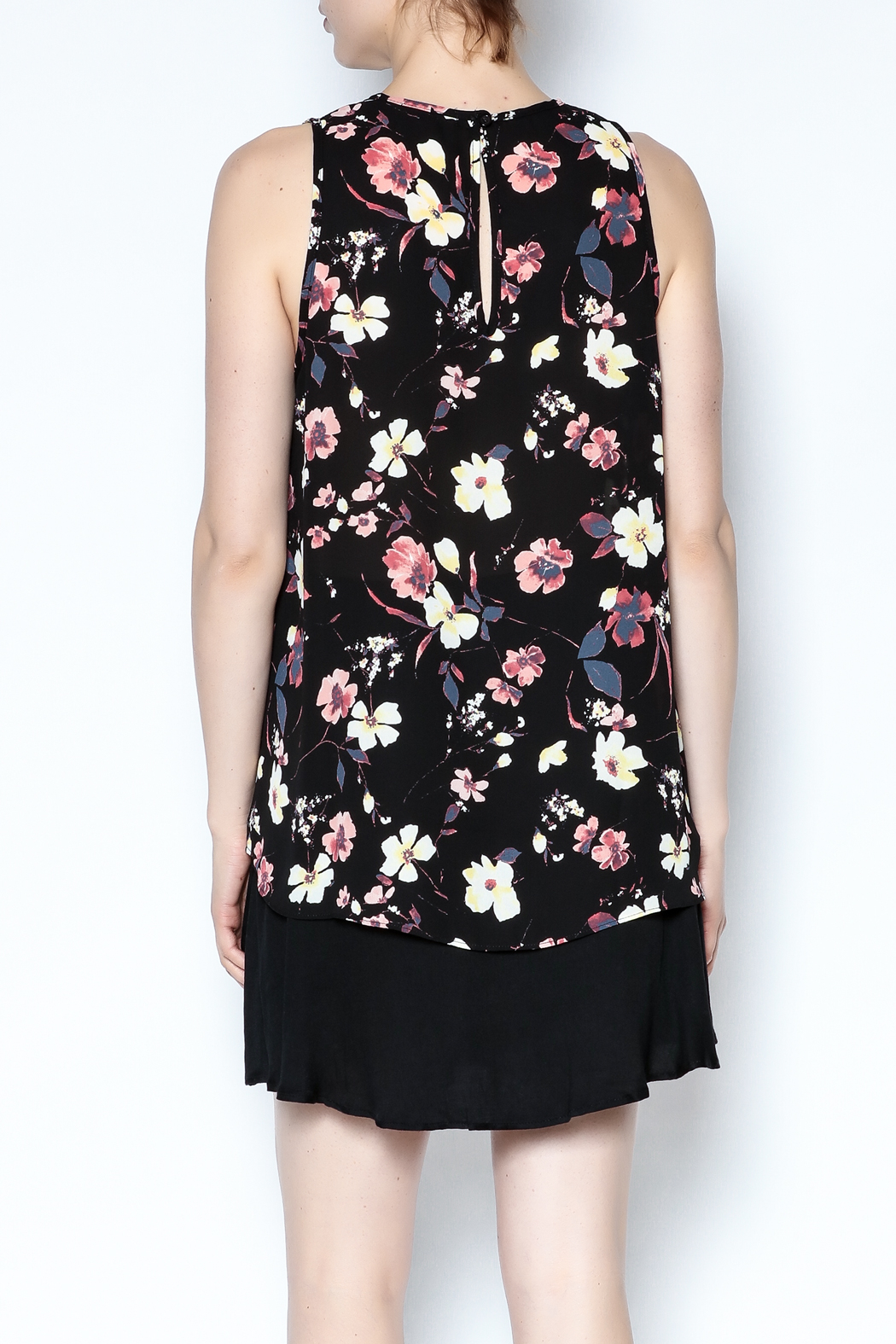 Three Eighty Two Floral Sleeveless Top - Back Cropped Image