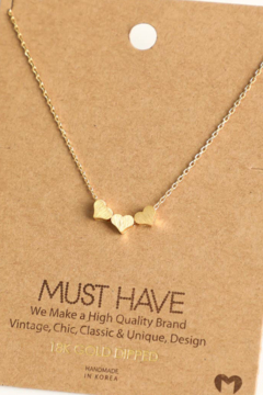 Fame Accessories Three Heart Necklace - Alternate List Image
