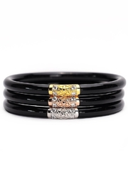 BuDhaGirl THREE KINGS ALL WEATHER BANGLES-BLACK - Front cropped