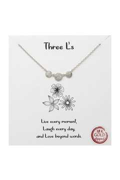 Lets Accessorize Three L's Necklace - Product List Image