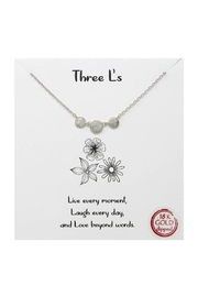 Lets Accessorize Three L's Necklace - Front cropped